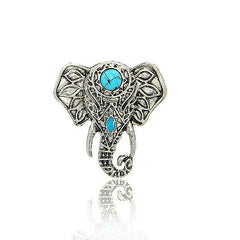 Turquoise Moon Elephant Ring
