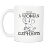 Image of Never Underestimate A Woman Who Loves Elephants Custom Mug