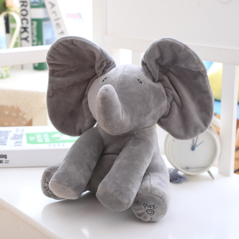 Peek A Boo Interactive Elephant Plush Toy