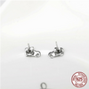 Image of 925 Sterling Silver Lucky Elephant Stud Earrings