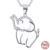 Image of 925 Sterling Silver Joyous Elephant Necklace