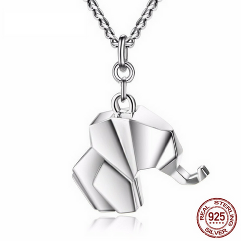 925 Sterling Silver Tardoo Elephant Pendant Necklace