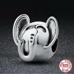 925 Sterling Silver Lucky Elephant Charm