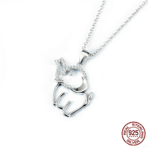 925 Sterling Silver Joyous Elephant Necklace