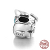 Image of 925 Sterling Silver Crystal Elephant Charm