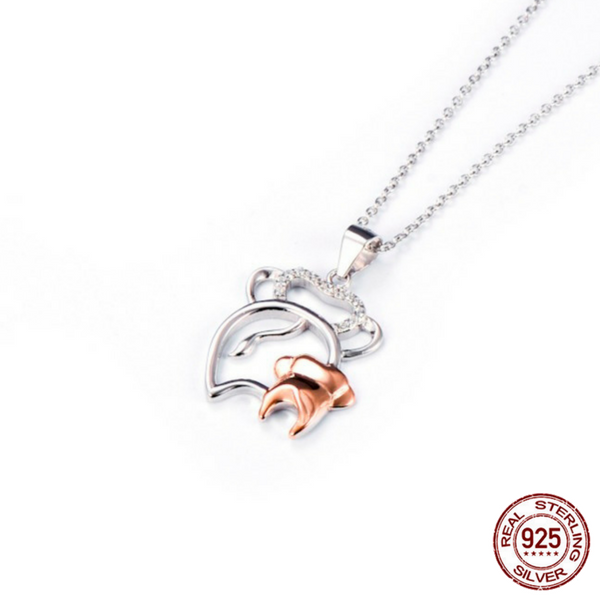 925 sterling silver mother and baby elephant pendant necklace 925 sterling silver mother and baby elephant pendant necklace mozeypictures Image collections