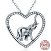 Image of 925 Sterling Silver Good Luck Elephant Pendant Necklace