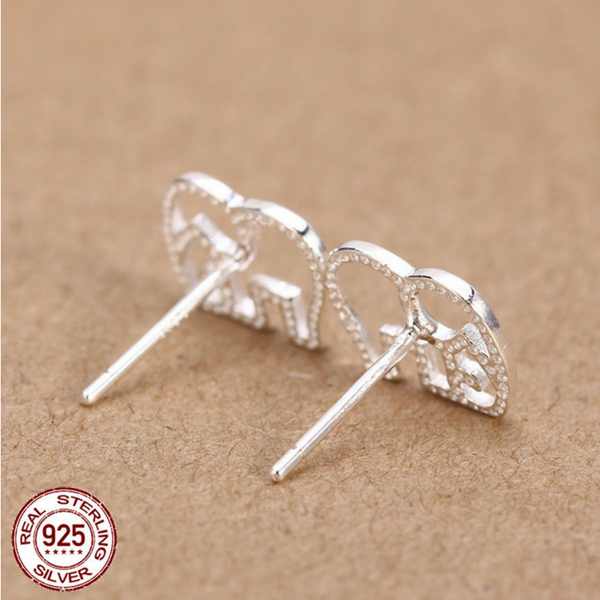 quiet stud hollow silver loud earrings for gift fashion cute friend or girls tiny womens jewelry sterling elephant products adorable