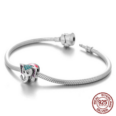 925 Sterling Silver Crystal Elephant Charm