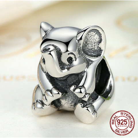 925 Sterling Silver Baby Elephant Charm