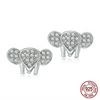 Image of 925 Sterling Silver Crystal Elephant Stud Earrings