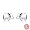 Image of 925 Sterling Silver Lovely Elephant Stud Earrings