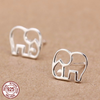 Image of 925 Sterling Silver Cute Elephant Stud Earrings