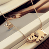 Image of Mother & Baby Elephant Pendant Necklace
