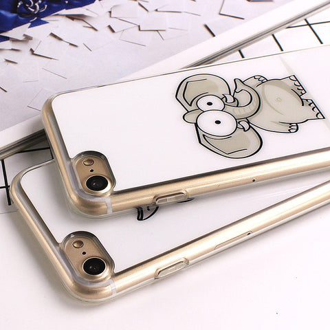 Cute Cartoon Elephant Silicone iPhone Case