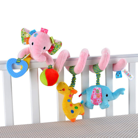Cute Elephant Plush Developmental Toy For Baby Crib & Strollers
