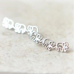 Elephant Ear Climber Pin Earrings
