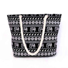 Canvas Ellie Print Handbag