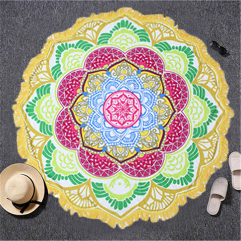 Mandala Lotus Flower Tapestry