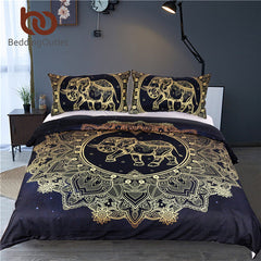 Mandala Elephant Duvet Bed Cover Set
