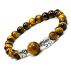 Image of Natural Tiger Eye Stone Handmade Elephant Bracelet
