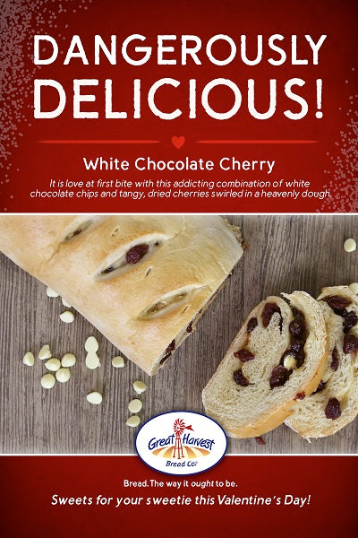 White Chocolate Cherry Swirl for Bread Lovers