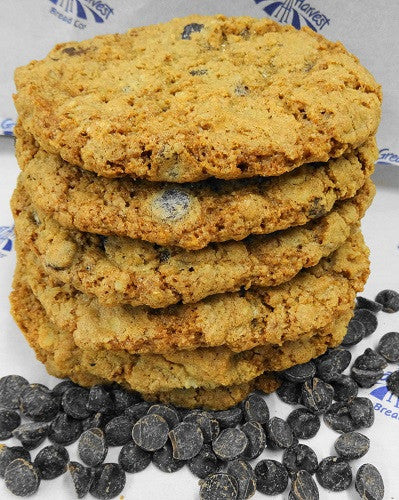 Six Giant Oatmeal Chocolate Chip Cookies