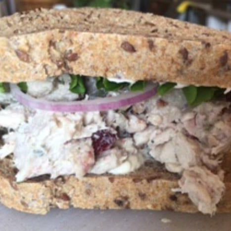 Cranberry Walnut Chicken Salad Sandwich