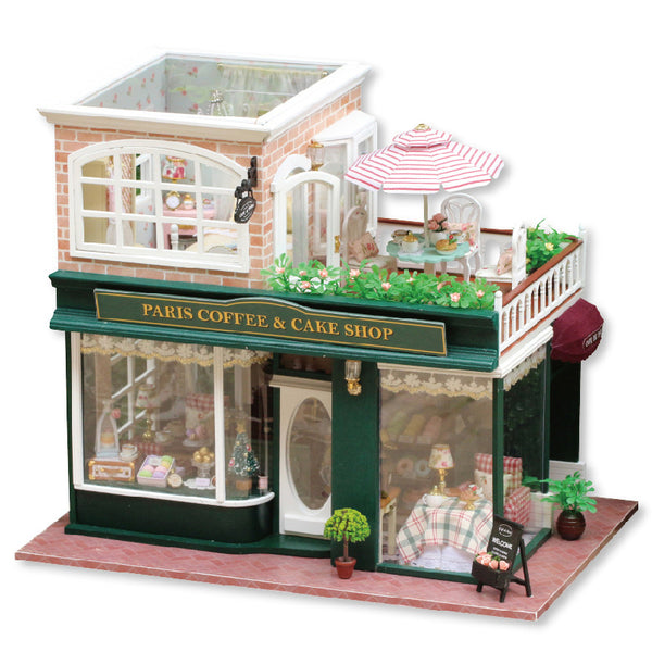 French Coffee Journey - Miniature DIY Dollhouse Kit