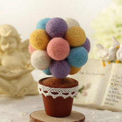 Cotton Candy Tree - DIY Felting Kit