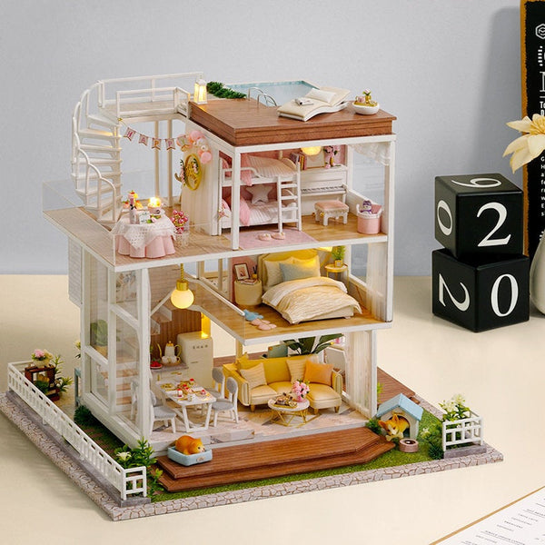 Nice Day Condo - 1:24 DIY Miniature Dollhouse Craft Kit