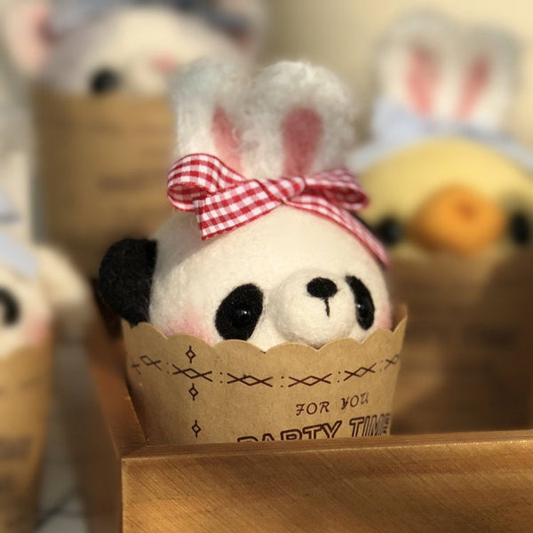 Cupcake Panda - DIY Needle Felting Craft Kit