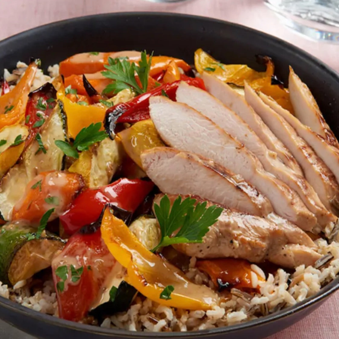 Chicken and Veggie Rice Bowl
