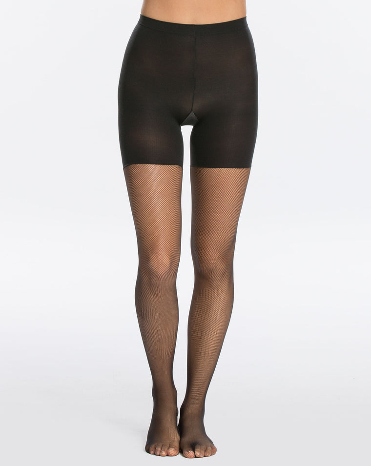 Spanx MICRO-FISHNET MID-THIGH SHAPING TIGHTS