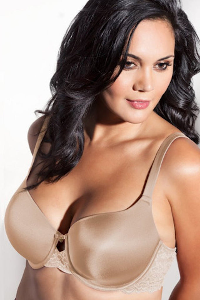 Curvy Couture Lace Shine T-Shirt Underwire Bra #1102