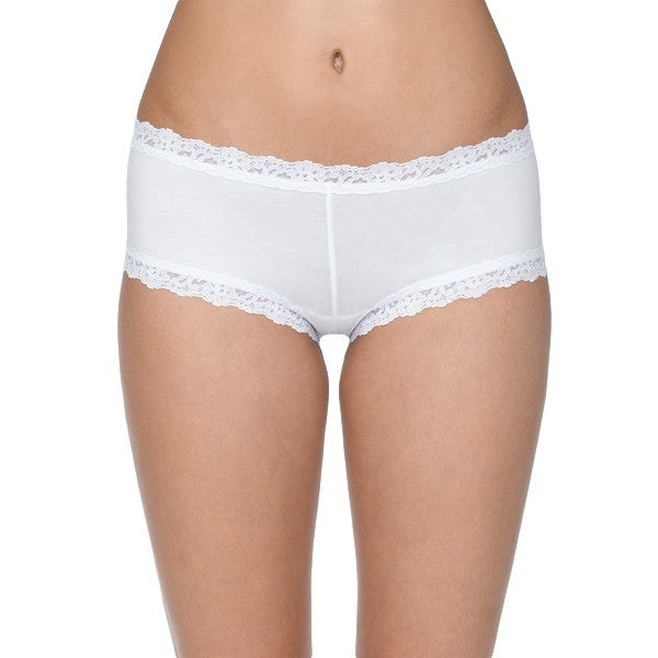 Hanky Panky Organic Cotton Boyshort with Lace 891281