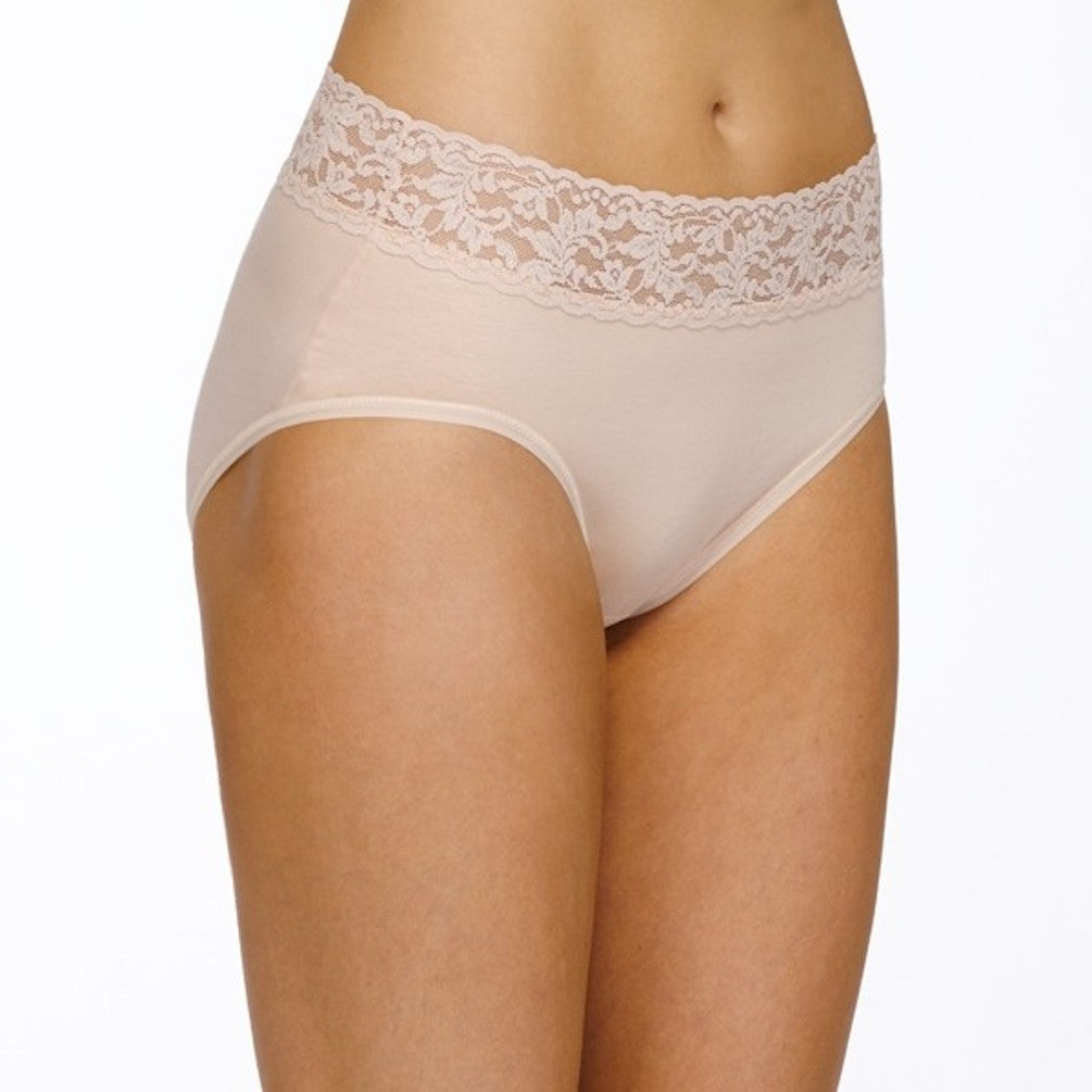 Hanky Panky Organic Cotton French Brief with Lace 892461