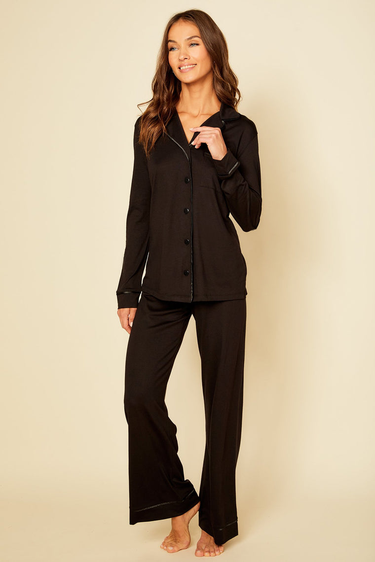 Cosabella Bella Relaxed Long Sleeve Top and Pant Set #AMORE9545