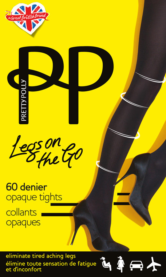 Pretty Polly Legs on the Go - 60 Denier Light Support Tights #PNASK4