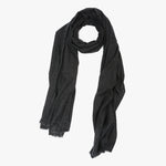 Black Cashmere Scarf Men women | Sandhi
