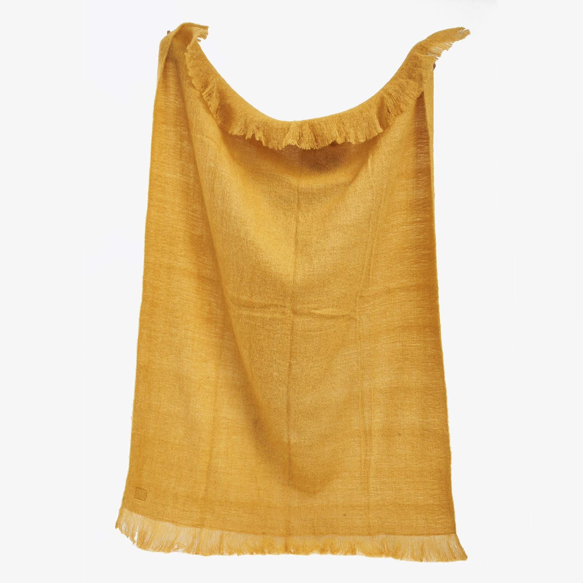 mustard Yellow Wool Blanket for Soda Bed | Sandhi