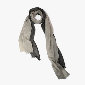 Black Grey Cashmere scarf men women | Sandhi