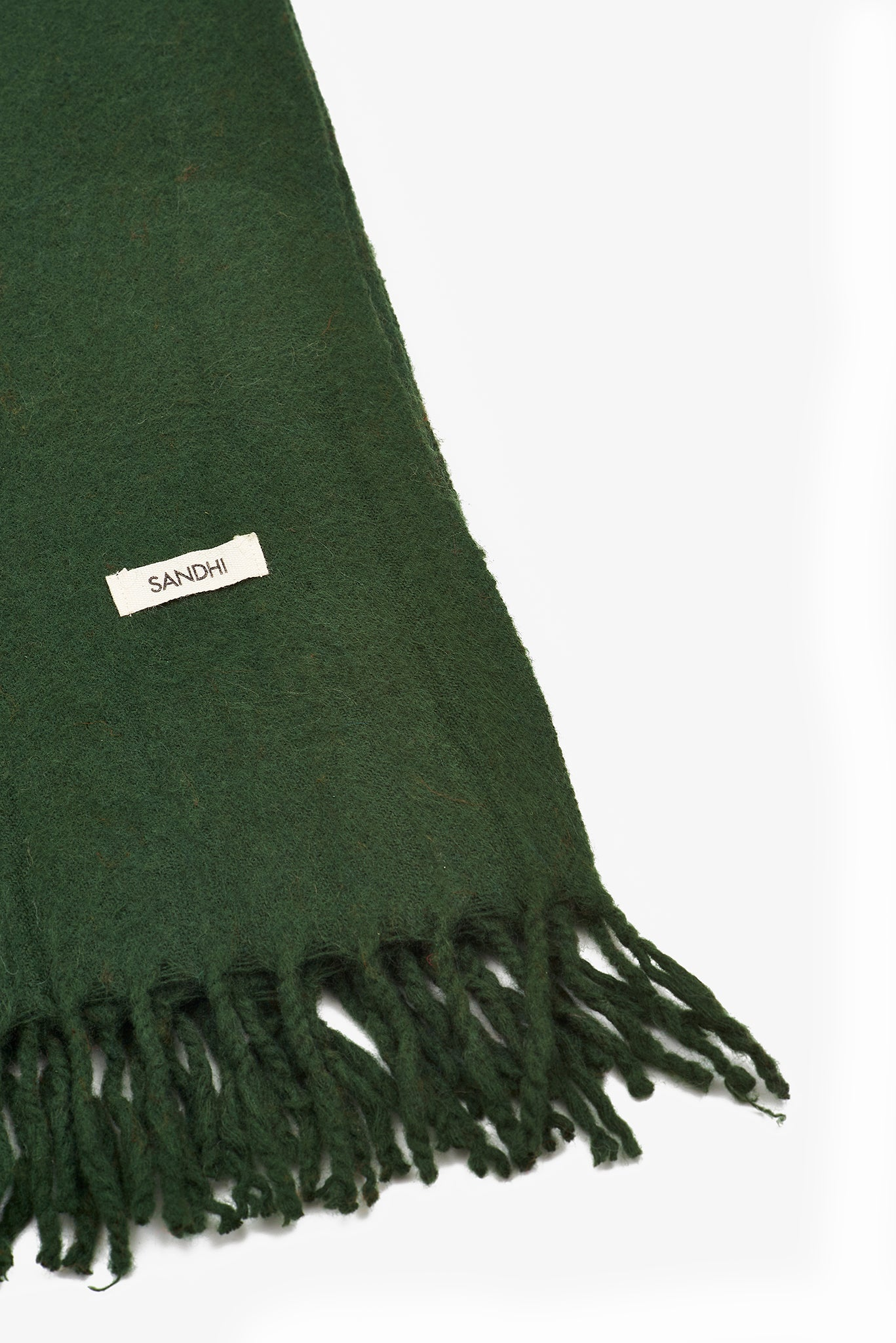 Lambswool Green Scarf Womens Wraps | Sandhi