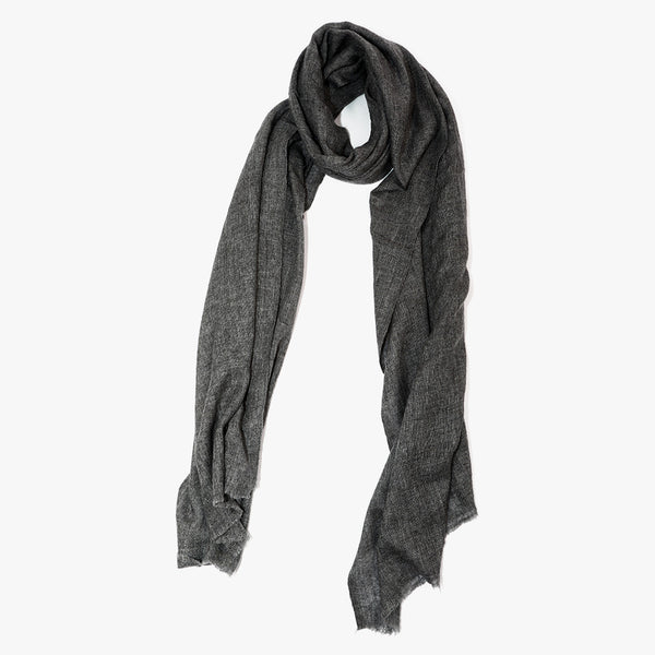 Grey Cashmere wool scarf men women | Sandhi