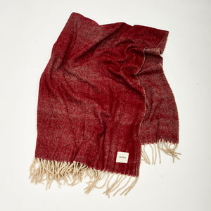 Best Seller Wine Red Herringbone Throw | Sandhi