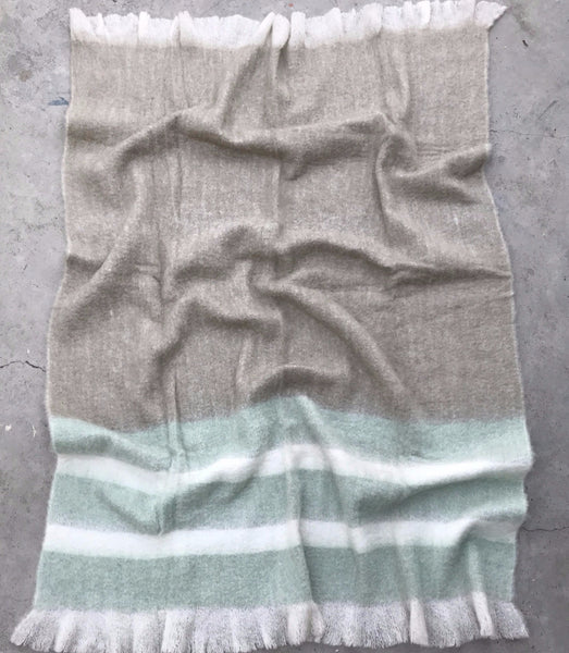 Plaid-Vert-Gris-Laine-Mohair-Blanket-Throw | Sandhi