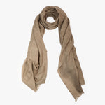 Brown Natural Pure Pashmina Cashmere Scarf Shawl | Sandhi
