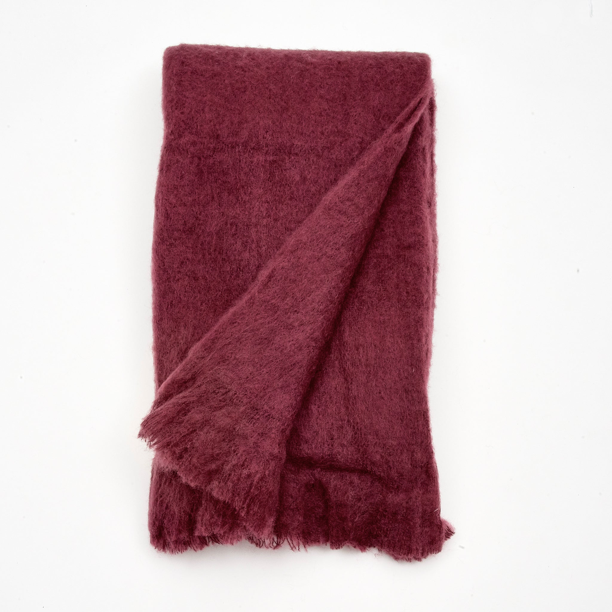 Beautiful Wine Red Wool Blanket and Throws | Sandhi