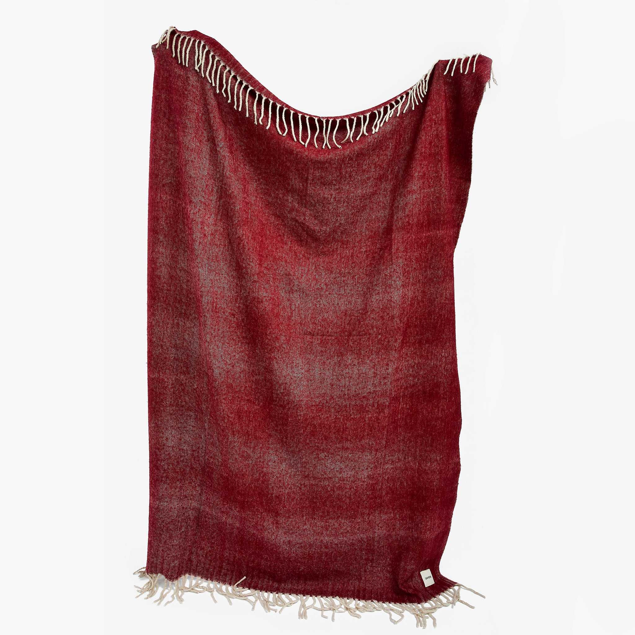 Herringbone Red Blanket For Christmas Gift | Sandhi
