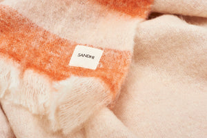 Handwoven Rust-Colored Wool Blanket | Sandhi